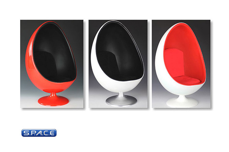 16 Scale Egg Chair White Red M 001 A Space Space