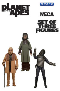 Set of 3: Planet of the Apes Classic Series 2