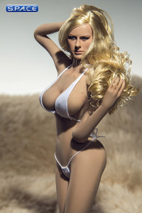 1/6 Scale Seamless Female suntan Body large breast / long blonde hair (Super-Flexible)