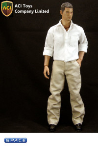 1/6 Scale White Oxford Shirt & Khaki Chino Set