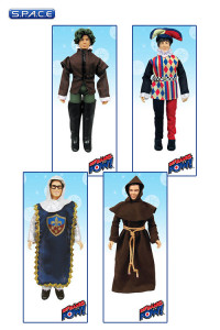4er Satz: Renaissance Faire Cosplay Outfit! Series 3 SDCC 2014 Exclusive (The Big Bang Theory)