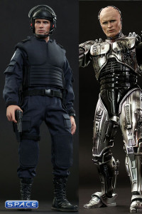 1/6 Scale battle-damaged RoboCop & Alex Murphy Movie Masterpiece Set (RoboCop)