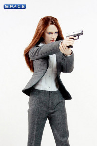 1/6 Scale MI6 Female Agent - grey dress (Suit of Style Series)