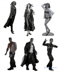 Complete Set of 6 : Sin City Series 2 (black/white)