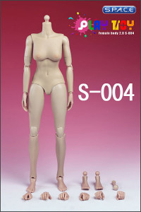 1/6 Scale Female Body Caucasian 2.0 White (small breast)