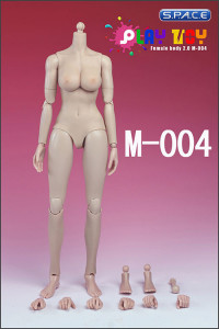 1/6 Scale Female Body Caucasian 2.0 White (middle breast)
