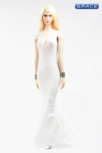 1/6 Scale low-cut sling Evening Dress (white)