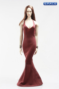 1/6 Scale low-cut sling Evening Dress (red)