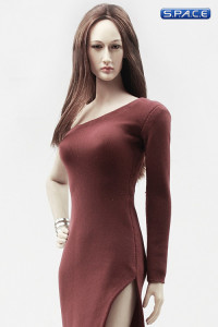 1/6 Scale side slit Evening Dress (red)