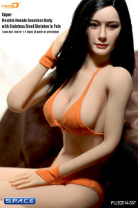 1/6 Scale Seamless Female pale Body large breast / long black hair (Super-Flexible)