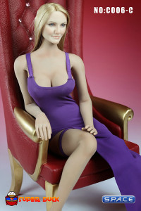 1/6 Scale Sexy Evening Dress (purple)