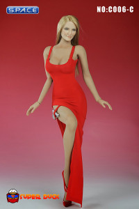 1/6 Scale Sexy Evening Dress (red)