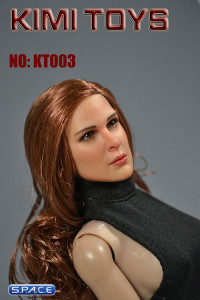 1/6 Scale European / American Female Head Sculpt (red/brown)