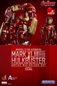 (battle-damaged Version) and Hulkbuster Deluxe Set - Artist Mix Figures Series 1 (Avengers: Age of Ultron)