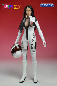 1/6 Scale Racing Girl White Suit