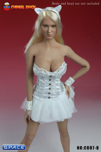 1/6 Scale Basque Corset Dress (White)