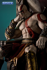 1/4 Scale Kratos on Throne Statue (God of War)