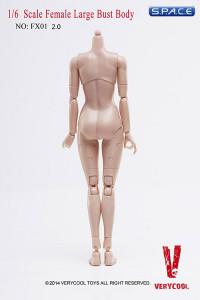 1/6 Scale Female Large Breast Body - Medium Tan/Asian (Ver. 2.0)