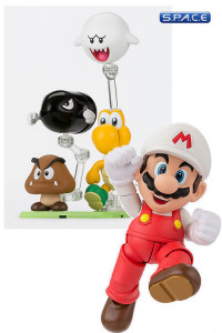 S.H.Figuarts Fire Mario with Play Set D Bundle (Super Mario)
