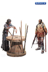 Morgan with Impaled Walker and Spike Trap Deluxe Box (The Walking Dead)