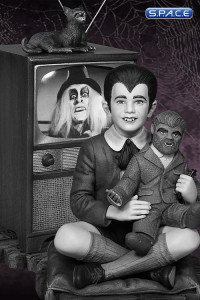 Eddie Munster Maquette Black and White Edition (The Munsters)
