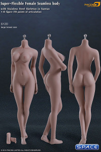 1/6 Scale Seamless Female suntan Body removable feet / large breast / headless (Super-Flexible)