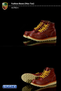 1/6 Scale Moc Toes Red Brown Boots (Fashion Boots Series 5)