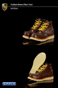 1/6 Scale Moc Toes Brown Boots (Fashion Boots Series 5)