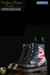 1/6 Scale British Flag Boots Version B - Heel Collar
