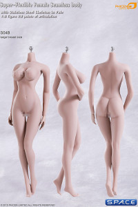 1/6 Scale Seamless Female pale Body large breast / headless (Super-Flexible)