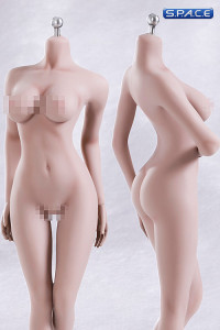 1/6 Scale Seamless Female pale Body removable feet / large breast / headless (Super-Flexible)