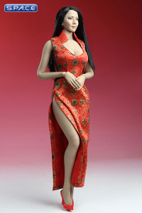 1/6 Scale Cheongsam Dress (red)