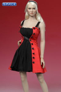 1/6 Scale Fit & Flare Dress (red)