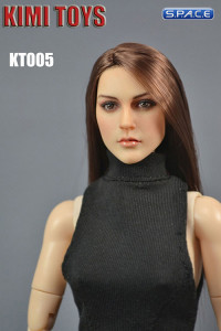 1/6 Scale European / American Female Head Sculpt (brunette)