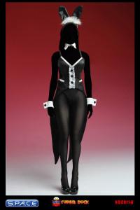 1/6 Scale black Bunny Costume