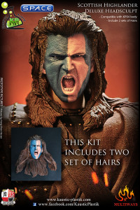 1/6 Scale Scottish Highlander William Deluxe Head