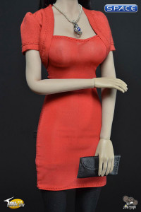 1/6 Scale Female's red Dress Set