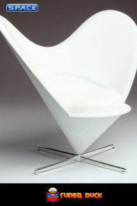 1/6 Scale white Bunny Chair