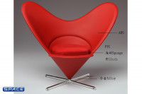 1/6 Scale red Bunny Chair