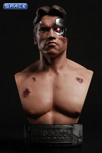 1/2 Scale Battle Damaged T-800 Bust (Terminator Genisys)