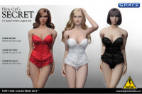 1/6 Scale red Corset Lingerie Set