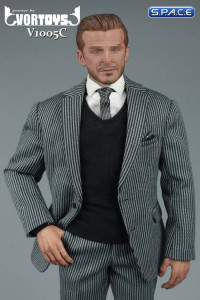 1/6 Scale striped Gentleman Suit 2.0 Set