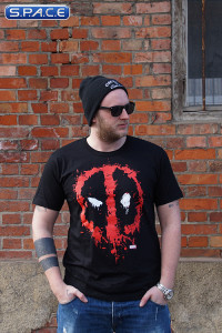 Deadpool Splash Logo T-Shirt black (Marvel)