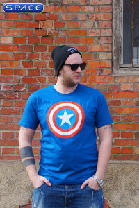 Captain America Logo T-Shirt blue (Marvel)