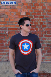 Captain America Logo T-Shirt brown (Marvel)