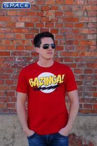 Bazinga T-Shirt red (Big Bang Theory)