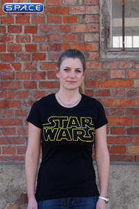 Star Wars Logo Girlie T-Shirt black (Star Wars)