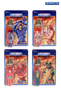 Complete Set of 4: MOTU ReAction Figures - Wave 1 (Masters of the Universe)