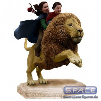 Girls on Aslan Statue (Narnia)