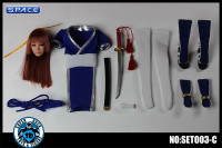 1/6 Scale blue Fighting Girl Set